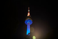 N Seoul Tower at night, Seoul, South Korea - CUF48023