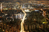 Cityscape at dusk, Seoul, South Korea - CUF48026
