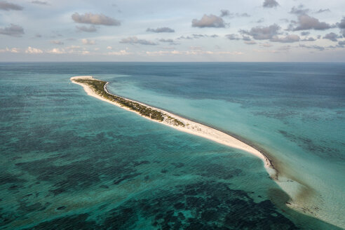 Reef life and cay, Alacranes, Campeche, Mexico - CUF48038