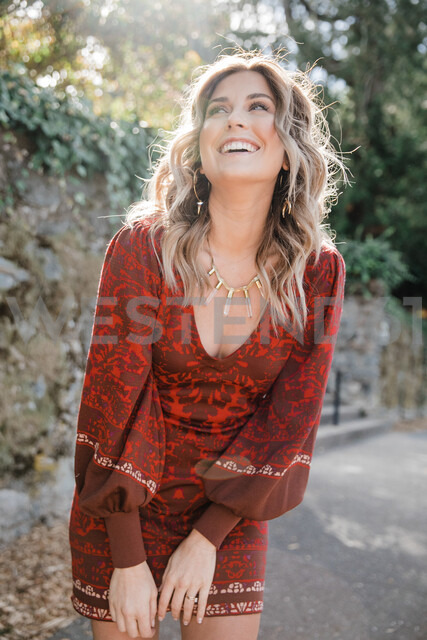 Woman enjoying sunshine, San Rafael, California, US - ISF20403
