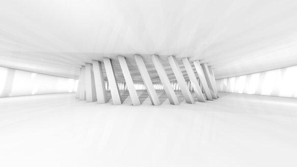 Futuristic white room, 3D Rendering - SPCF00331