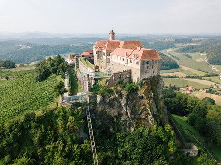 Austria, Styria, drone view of Riegersburg Castle - DAW00883