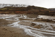 Iceand, Haukadalur valley, Geothermal site with hot spring, geyser - WIF03751