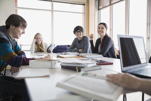 High school students studying in classroom - HEROF06708