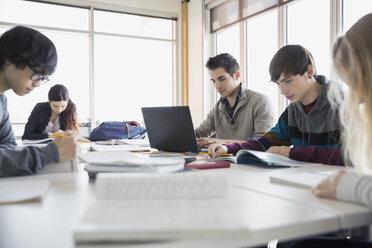 High school students studying in classroom - HEROF06711