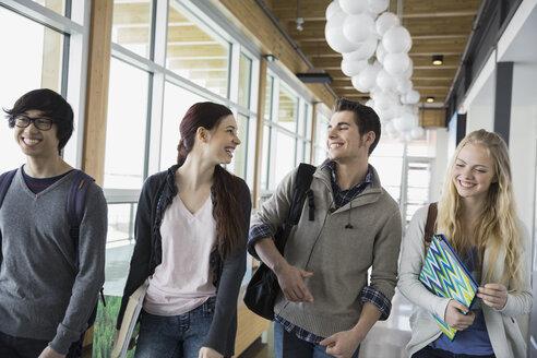 High school students walking in corridor - HEROF06717