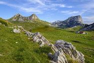 Montenegro, Durmitor National Park, Durmitor massif, mountain pasture Sarban, mountains Sedlo and Boljska Greda - SIEF08373