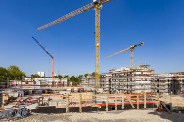 Germany, Stuttgart, New Buildings, construction site, house building - WDF05046