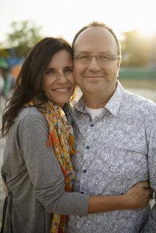 Portrait affectionate mature couple hugging - HEROF08843