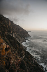 South Africa, Western Cape, seen from Chapman's Peak Drive in the evening - LHPF00417