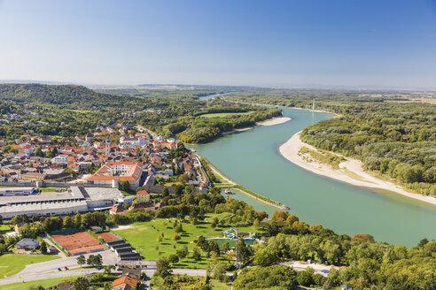 Hainburg vom Braunsberg, Donau, Niederösterreich - AIF00574