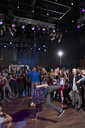 Crowd cheering and watching break dancer in nightclub - HEROF14884