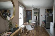 Boy walking in home corridor - HEROF15116