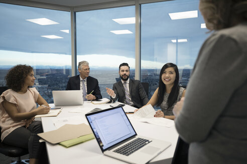 Business people talking in conference room meeting - HEROF15251
