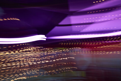 Colorful lights in movement, long exposure - IGGF00743