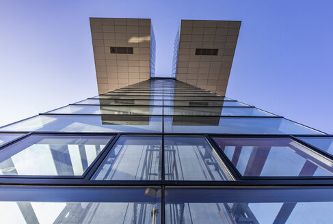 Germany, Cologne, part of facade of Crane House seen from below - JATF01118