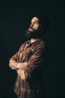 Renaissance portrait confident, ambitious young male millennial hipster - HEROF17269