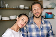 Portrait of a happy young couple at home - PESF01236