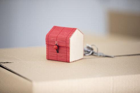 Tiny house model on cardboard box - ERRF00766