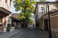 Cobbled streets in the old Town, Plovdiv, Bulgaria - RUNF01057