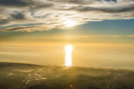 USA, California, Del Mar, Sunset over the ocean - RUNF01103