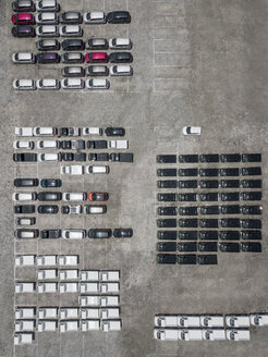Indonesia, Bali, Aerial view of car park - KNTF02627