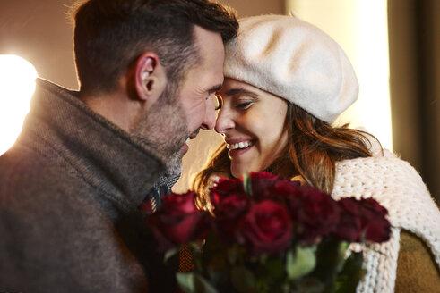 Couple in love head to head in winter - ABIF01165