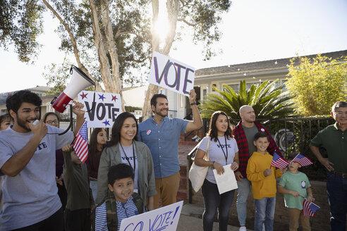 Latinx neighbors volunteering, canvassing voters - HEROF19246