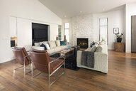Home showcase living room with fireplace - HEROF20516