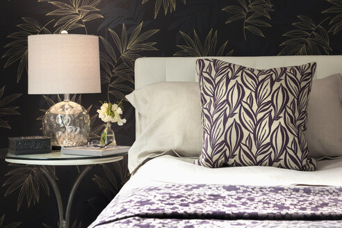 Home showcase bedroom with bedside lamp - HEROF20525