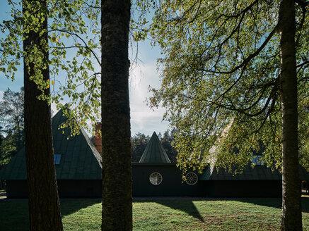 Visitor centre at Skogskyrkogården, Stockholm, Sweden - CUF48975
