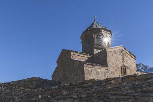 Georgia, Greater Caucasus, Stepantsminda, Gergeti Trinity Church - KEBF01113
