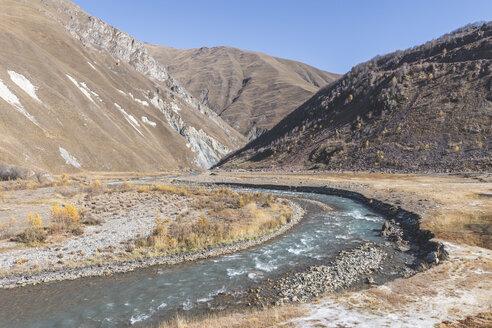 Georgia, Greater Caucasus, Truso Gorge with Terek River - KEBF01125