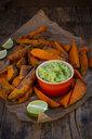 Sweet potato wedges with avocado dip - LVF07772