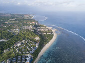 Indonesia, Bali, Aerial view of Hotel facility at Nusa Dua beach - KNTF02643