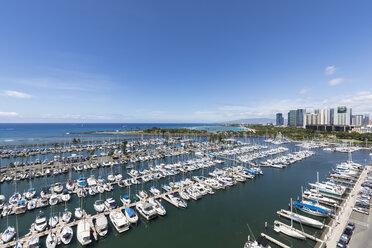 USA, Hawaii, Oahu, Honolulu, Ala Wai Boat Harbor - FOF10316