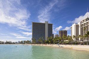 USA, Hawaii, Oahu, Honolulu, Waikiki Beach - FOF10331
