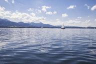 Germany, Bavaria, Chiemsee, Sailing boats - MAMF00396