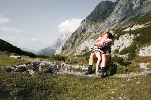 austria, Tirol, Drachensee, Mountain, family - FKF03282