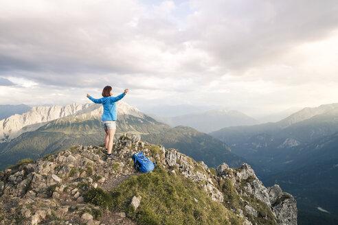 Austria, Tirol, Grubigstein, Mountain, family - FKF03333
