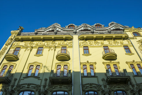 Ukraine, Odessa, yellow facade of old  building - RUNF01235