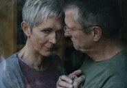 Senior man consoling sad wife - KNSF05526