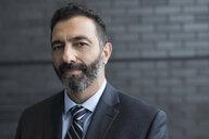 Close up portrait confident businessman with beard - HEROF23577