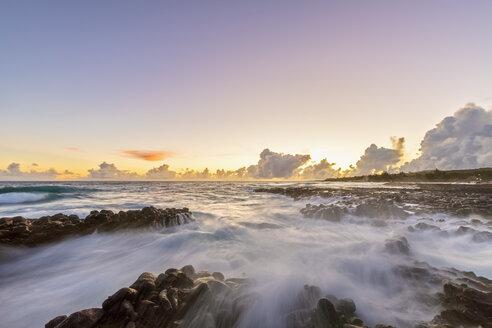 USA, Hawaii, Kauai, Pacific Ocean, South Coast, Kukuiula Bay at sunset - FOF10434