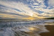 USA, Hawaii, Kauai, Eleele, Salt Pond Park at sunset - FOF10459