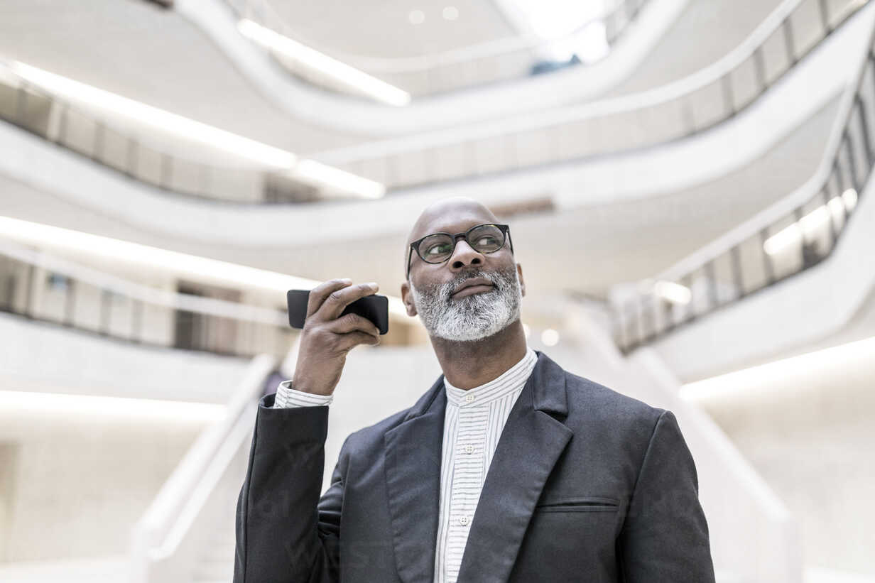 Portrait of mature businessman using smartphone - FMKF05368 - Jo Kirchherr/Westend61
