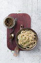 Spaghetti with homemade sesame pesto - MYF02082