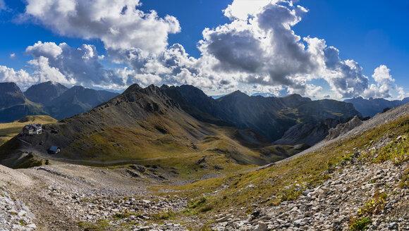Italy, Veneto, Dolomites, San Pellegrino Pass, Paradiso mountain hut - LOMF00805