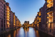 Germany, Hamburg, Old Warehouse District and Wasserschloss - WDF05117