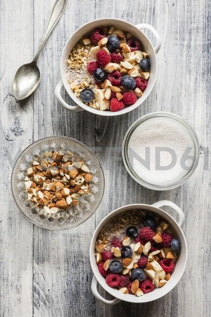Cereals with almond milk, nuts and berries, vegan - EVGF03411